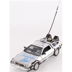"Christopher Lloyd Signed ""Back to the Future"" Delorean Time Machine Figure (Beckett COA)"