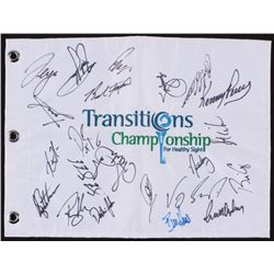 2010 Transitions Championship Golf Pin Flag Signed by (22)