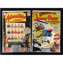DC COMIC BOOK LOT (ADVENTURE COMICS, SUPERMAN'S PAL JIMMY OLSEN)