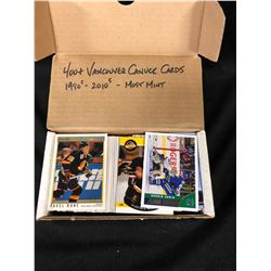 1980-2010'S VANCOUVER CANUCKS HOCKEY CARDS (400+ CARDS- MOST MINT)
