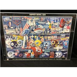 SUPERBOWL XXV FRAMED POSTER
