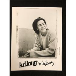 "KD LANG SIGNED 8"" X 10"" PHOTO"