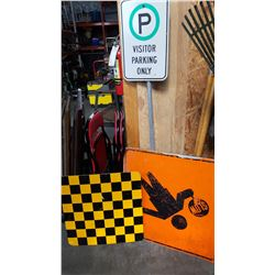 CONSTRUCTION SIGNS AND PARKING SIGNS