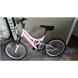 PINK HUFFY YOUTH BIKE
