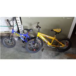 BLUE AND YELLOW SUPER CYCLE YOUTH BIKES