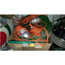 BIN OF HOSE AND TROUBLE LIGHTS
