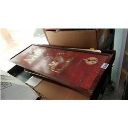 LOT OF TRAYS AND SIGN