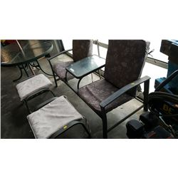 3 PIECE PATIO SET CHAIRS AND OTTOMANS