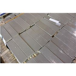 405 SQFT NEW METRO BRICK MODERN GREY 2 1/4 X 7 5/8 INCH TILE, 7.5 SQFT PER BOX, 54 BOXES, ENTIRE NEW