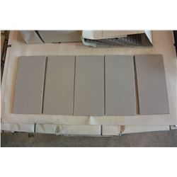 300 SQFT NEW MADE IN GERMANY GAIL GREY 4.5X9.5 INCH TILES, 6 SQFT PER BOX, 49 BOXES TOTAL