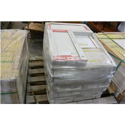 24 BOXES NEW ITALIAN CERAMIC WHITE 12 INCH BY 24 INCH FLOOR TILES, 6PC/BOX