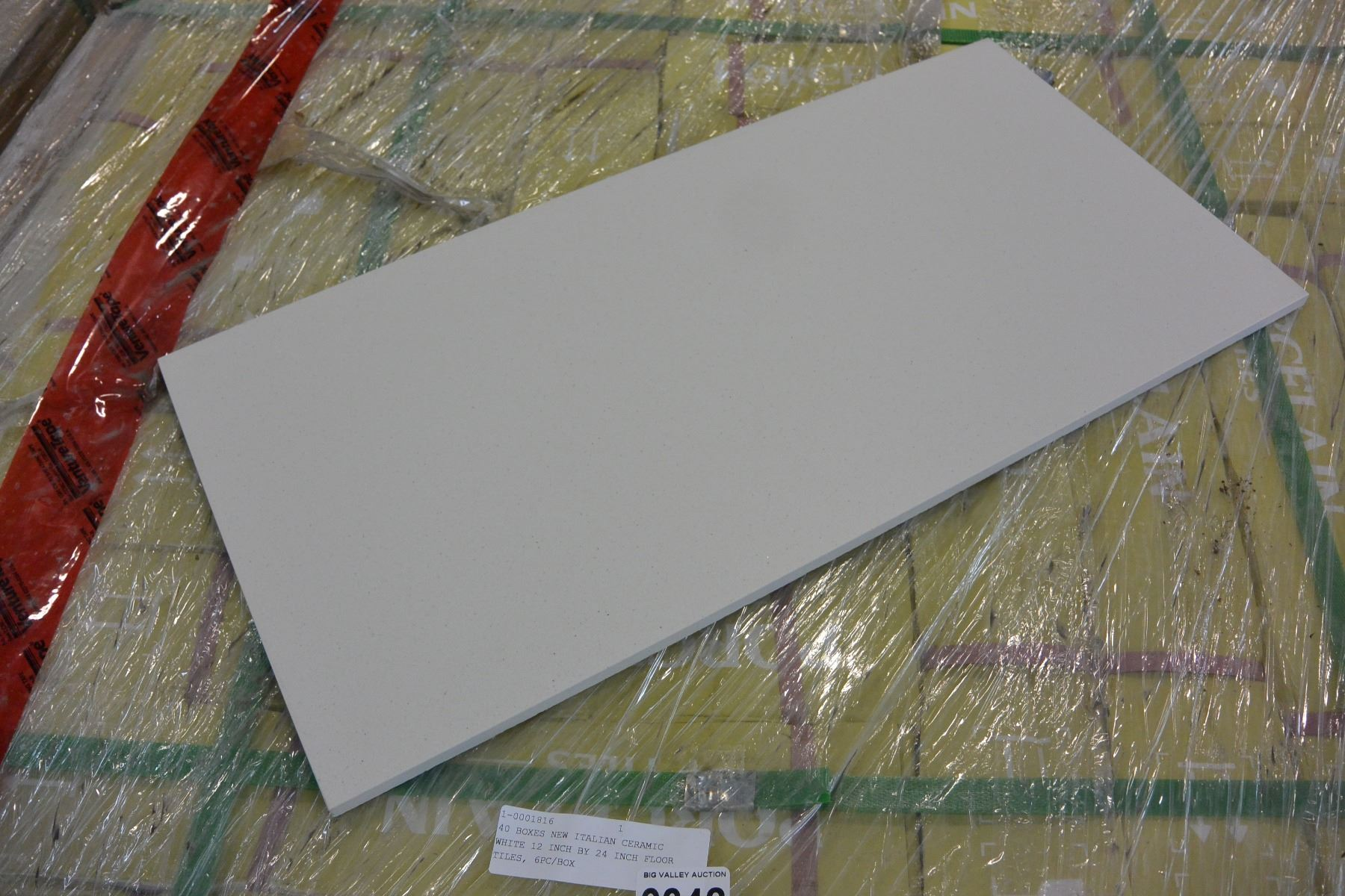 BOXES NEW ITALIAN CERAMIC WHITE INCH BY INCH FLOOR TILES - 12 inch ceramic floor tiles