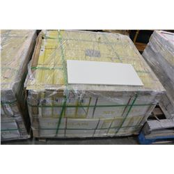 40 BOXES NEW ITALIAN CERAMIC WHITE 12 INCH BY 24 INCH FLOOR TILES, 6PC/BOX