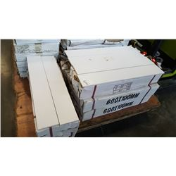 8 BOXES, 4 INCH BY 24 INCH WHITE SUBWAY TILE, 20PCS PER BOX