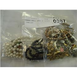 THREE SMALL BAGS OF ESTATE JEWELLRY