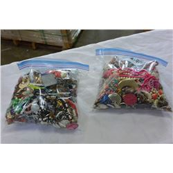 2 BAGS OF JEWELLRY