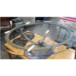 DESIGNER GLASSTOP COFFEE TABLE