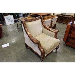 WOOD FRAMED OVERSIZED CHAIR