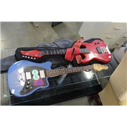 RED AND BLUE ELECTRIC GUITARS