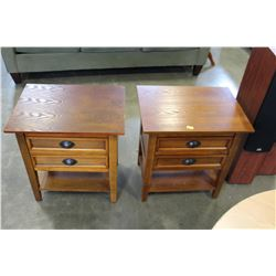PAIR OF SOLID OAK 2 DRAWER NIGHTSTANDS