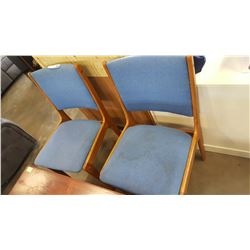 PAIR OF TEAK MCM DINING CHAIRS