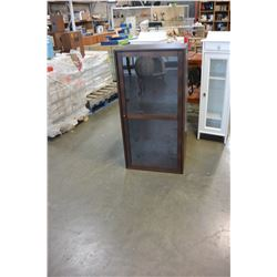 BROWN GLASS DOOR DISPLAY CASE