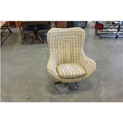 RETRO UPHOLSTERED SWIVEL CHAIR
