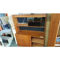 TEAK BUFFET AND HUTCH