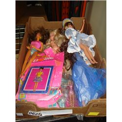 TRAY OF COLLECTABLE BARBIE DOLLS