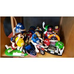 LOT OF COLLECTABLE M&M DISPENSERS