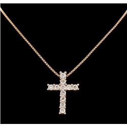 14KT Rose Gold 8.14 ctw Diamond Pendant with Chain