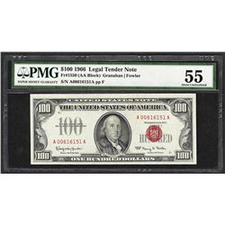 1966 $100 Legal Tender Note Fr.1550 PMG About Uncirculated 55