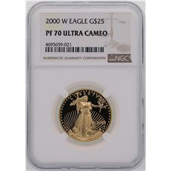 2000-W $25 American Gold Eagle Coin NGC PF70 Ultra Cameo