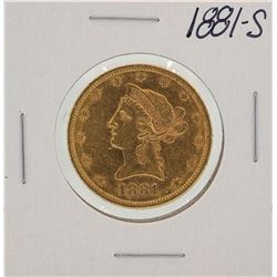 1881-S $10 Liberty Head Eagle Gold Coin