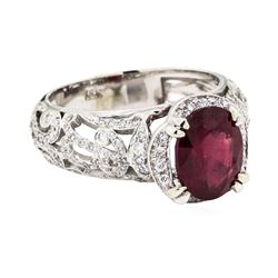 18KT White Gold 2.53 ctw Ruby and Diamond Ring