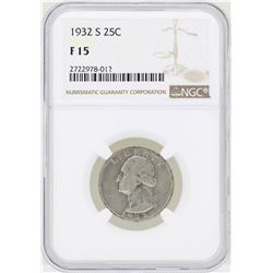 1932-S Washington Quarter Silver Coin NGC F15