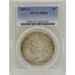 1899-O $1 Morgan Silver Dollar Coin PCGS MS65