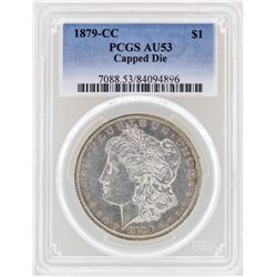 1879-CC Capped Die $1 Morgan Silver Dollar Coin PCGS AU53