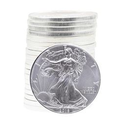 Roll of (20) 2016 $1 American Silver Eagle Brilliant Uncirculated Coins