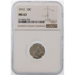 1912 Mercury Dime Coin NGC MS63