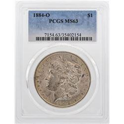 1884-O $1 Morgan Silver Dollar Coin PCGS MS63 Nice Color