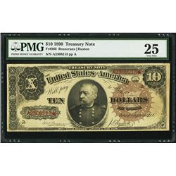1890 $10 Treasury Note Fr.366 PMG Very Fine 25