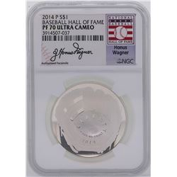 2014-P $1 Baseball Hall of Fame One Dollar Coin NGC PF70 Ultra Cameo