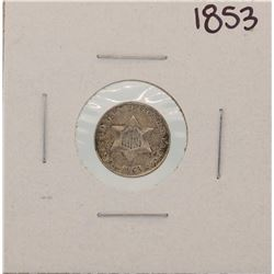 1853 Three Cent Piece Coin