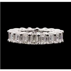 14KT White Gold 7.65 ctw Diamond Eternity Band