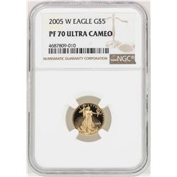 2005-W $5 American Gold Eagle Coin NGC PF70 Ultra Cameo