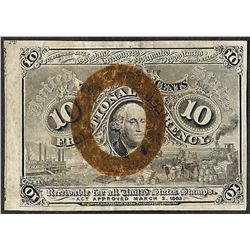 March 3, 1863 Ten Cent 2nd Issue Fractional Note