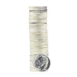 Roll of (50) 1961-D Brilliant Uncirculated Roosevelt Dimes