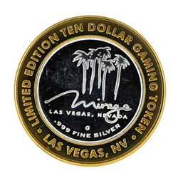 .999 Silver The Mirage Las Vegas, Nevada $10 Casino Limited Edition Gaming Token