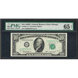 1950D $10 Federal Reserve Note Fr.2014-G PMG Gem Uncirculated 65EPQ